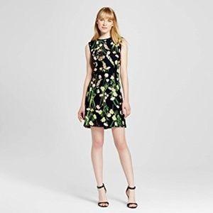 Victoria Beckham for Target Black Floral Dress S
